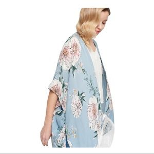 Floral Kimono with Tassells